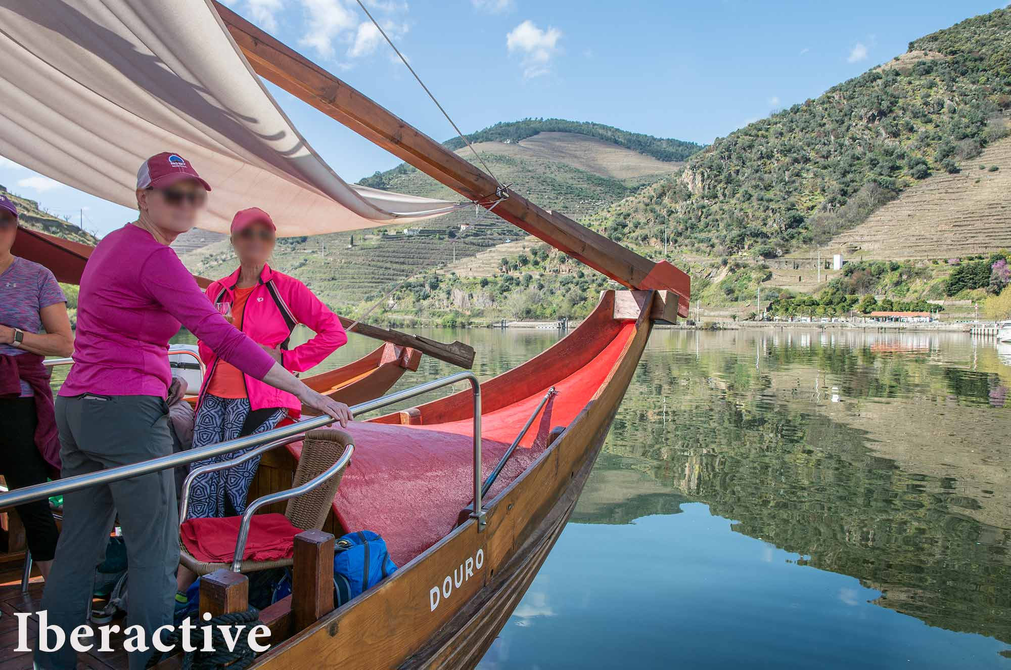 Rabelo boat, the traditional wooden boat of the Douro river, Portugal